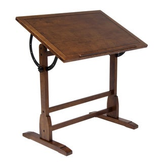 Studio Designs Rustic Oak Vintage Drafting Table