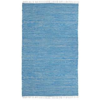 Aqua Reverisble Chenille Flatweave Rug (8' x 10')