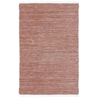 Handmade Copper Reverisble Chenille Flatweave Rug (8' x 10')