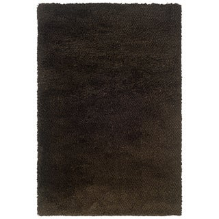Brown and Black Shag Area Rug (9'10 x 12'7)