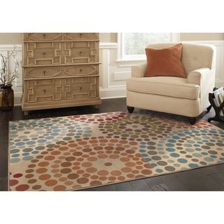 Gold and Blue Area Rug (10' x 13')