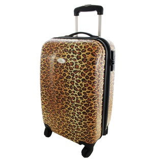 Hardside 22-inch Carry-on Spinner Upright Luggage Pin Up Cheetah by Jacki Design