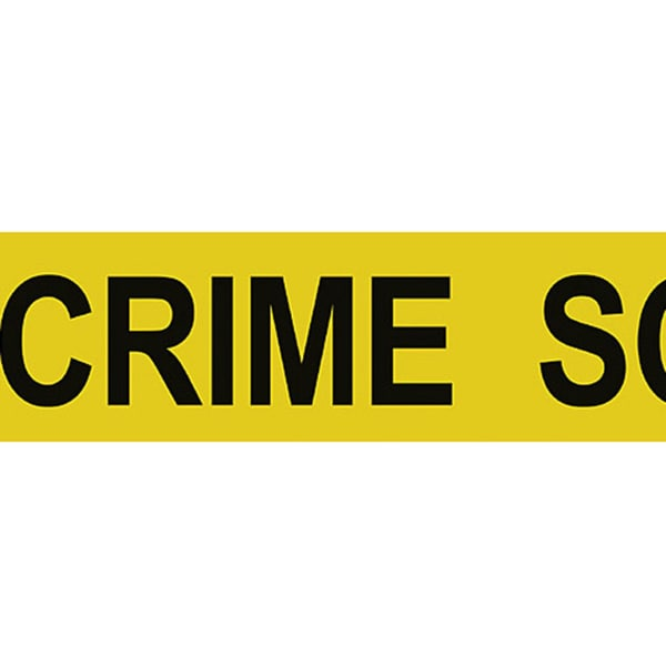 Brewster Yellow Crime Scene Border Wallpaper