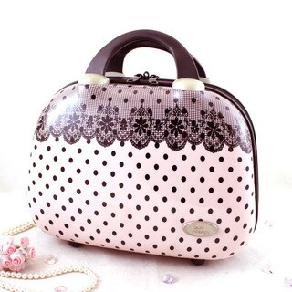 Jacki Design Polka Dot Romance Travel Beauty Case
