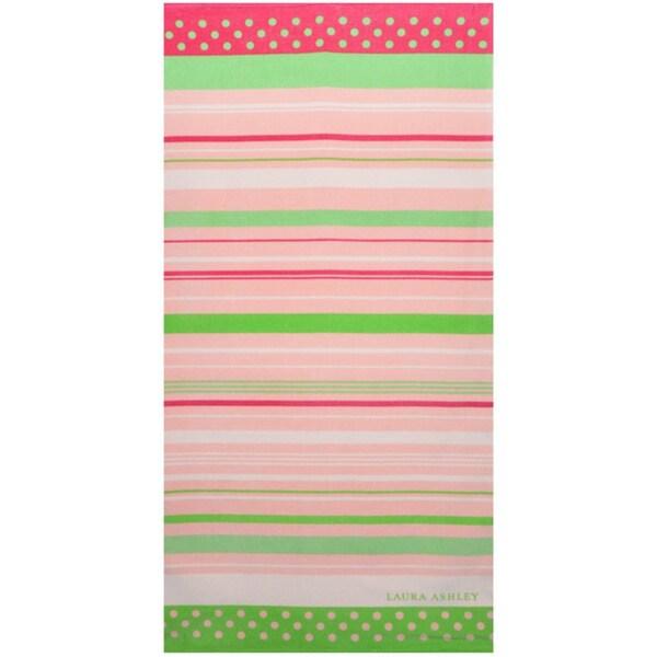 Laura Ashley Seaside Stripe Cotton Beach Towel