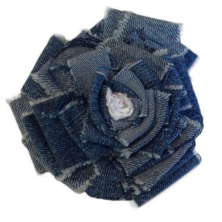 Fabric Rosette Magnetic Brooch