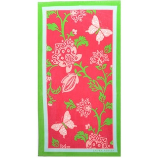 Laura Ashley Butterfly Floral Cotton Beach Towel