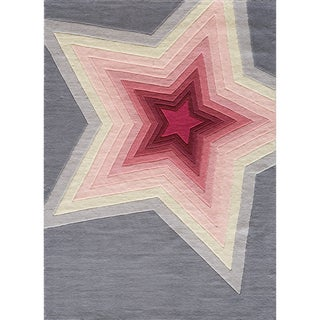 Hand-tufted Momeni Lil' Mo Hipster Superstar Rug (4' x 6')