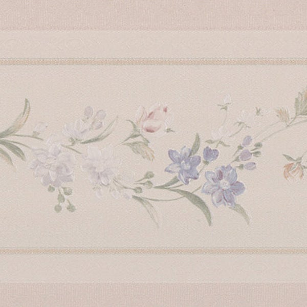 Brewster Pastel Delicate Floral Border Wallpaper