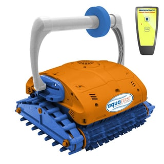 Swim Time Aquafirst Turbo Robotic Wall Climber Cleaner with Remote Control for In Ground Pools