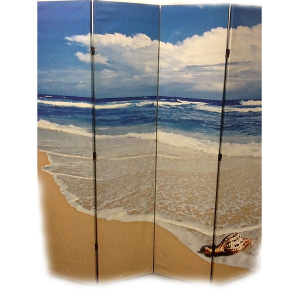 'Seashell by the Seashore' Four Panel Room Divider