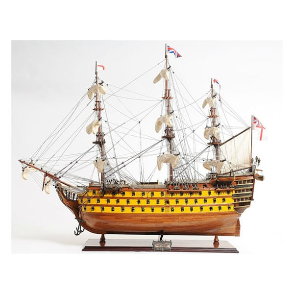 Old Modern Handicrafts HMS Victory Painted Model Ship 10794452