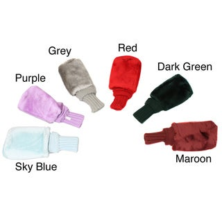 Pro Source Interchangeable Numbers Long Neck Fur-Knit Golf Club Headcovers (Set of 3)
