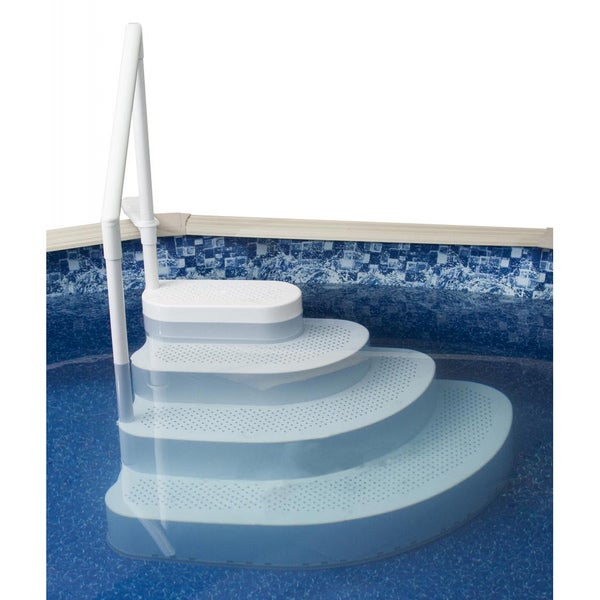 Blue wave wedding cake above ground pool step overstock shopping the best prices on blue - Above ground pool steps ...