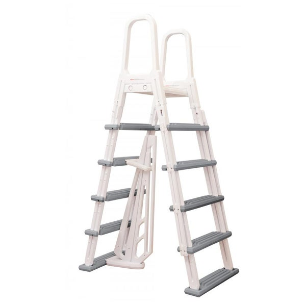 Blue wave heavy duty a frame ladder for above ground pools 15214950 shopping for Heavy duty swimming pool ladders