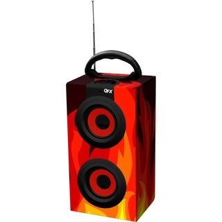 QFX CS-10US 2.0 Speaker System - 6 W RMS - Flame