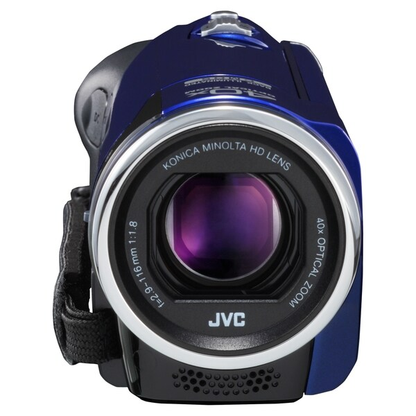 "JVC Everio GZ-E100 Digital Camcorder - 2.7"" LCD - CMOS - Full HD - Bl"