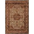 Meticulously Woven Terremoto Traditional Red Oriental Rug (7'6 x 10'6)