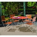 Phat Tommy Galleria Round Table and Folding Armchairs Patio Furniture Set