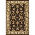 Hand-hooked Covington Maplewood Chocolate Indoor/ Outdoor Rug (5'6 x 8')