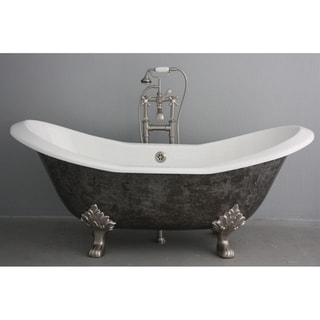 'The Sibton' from Penhaglion 73-inch Cast Iron Double Slipper Bathtub