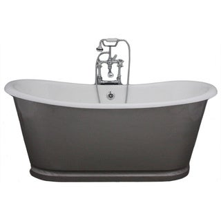 'The Newminster' from Penhaglion 68-inch Cast Iron Bateau Bathtub