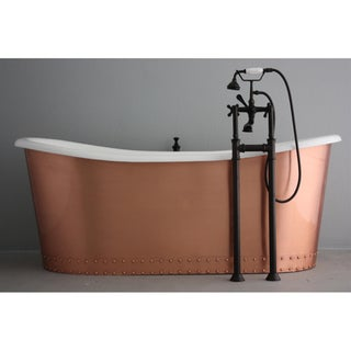 'The Boxgrove' from Penhaglion 73-inch Cast Iron French Bateau Bathtub