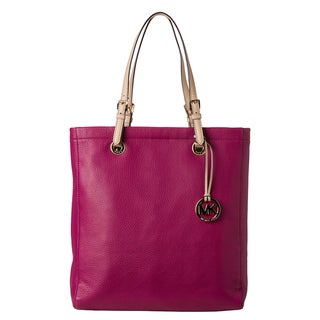 MICHAEL Michael Kors 'Jet Set' Peony Leather Tote Bag