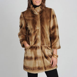 Tahari Women's 'Kris' Mink Vegan Fur Coat
