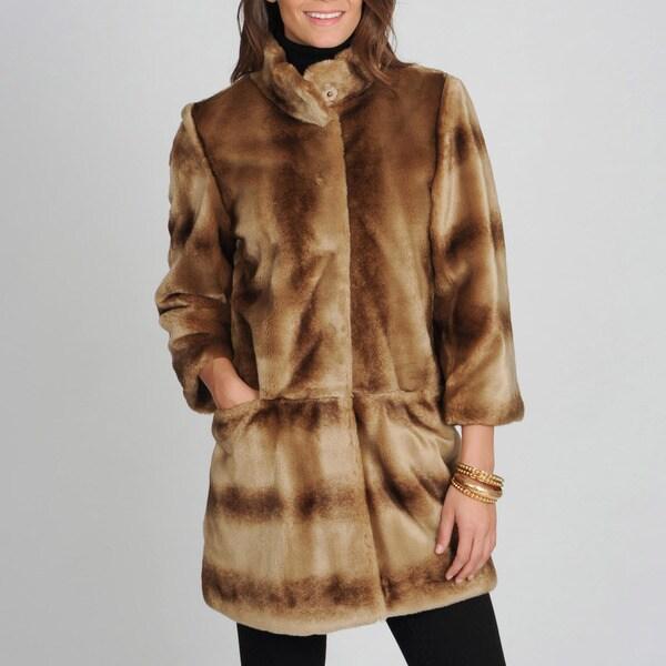 Tahari Women's 'Kris' Mink Vegan Fur Coat