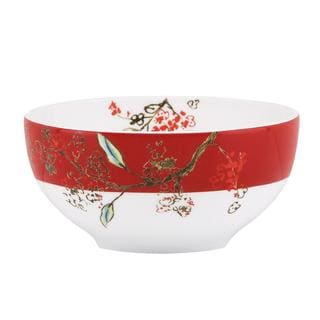 Lenox Chirp Scarlet Dessert Bowls (Set of 4)