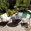 Christopher Knight Home Gatsby 4-piece Firepit Chat Set
