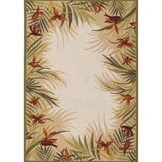 Covington Tropic Garden/ Sand Floral Rug (5'6 x 8)