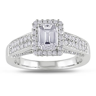 Miadora 14k Gold 1 1/2ct TDW Certified Emerald Cut Diamond Ring (G-H, I1-I2)