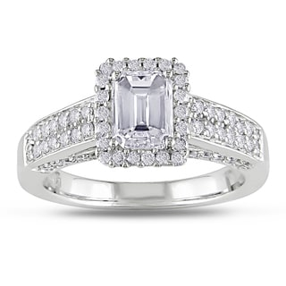 Miadora Signature Collection 14k Gold 1 1/2ct TDW Certified Emerald Cut Diamond Ring (G-H, I1-I2)