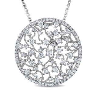 Miadora 14k White Gold 1 1/2ct TDW Diamond Necklace (G-H, SI1-SI2)