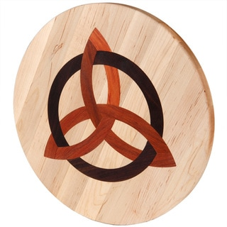 Maple Wood Lazy Susan with Celtic Trinity Inlay