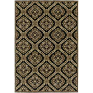 Dolce Napoli/ Black-Gold Area Rug (4' x 5'10)