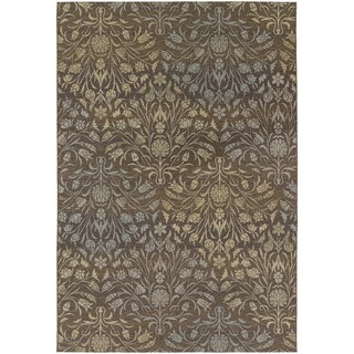 Dolce Coppola/ Brown-Beige Area Rug (4' x 5'10)