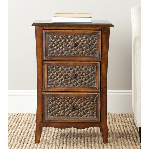Safavieh Clarence Dark Brown Storage Night Stand