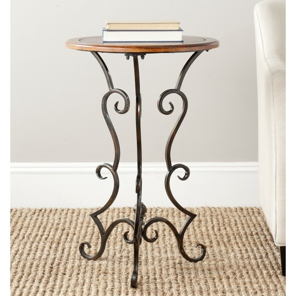 Safavieh Ruth Dark Brown Side Table