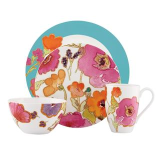 Lenox Aqua Floral Fusion 4 Piece Place Setting
