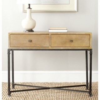 safavieh julian natural console table 15216970 shopping great deals on. Black Bedroom Furniture Sets. Home Design Ideas