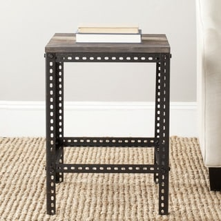 Safavieh Clayton Dark Brown End Table