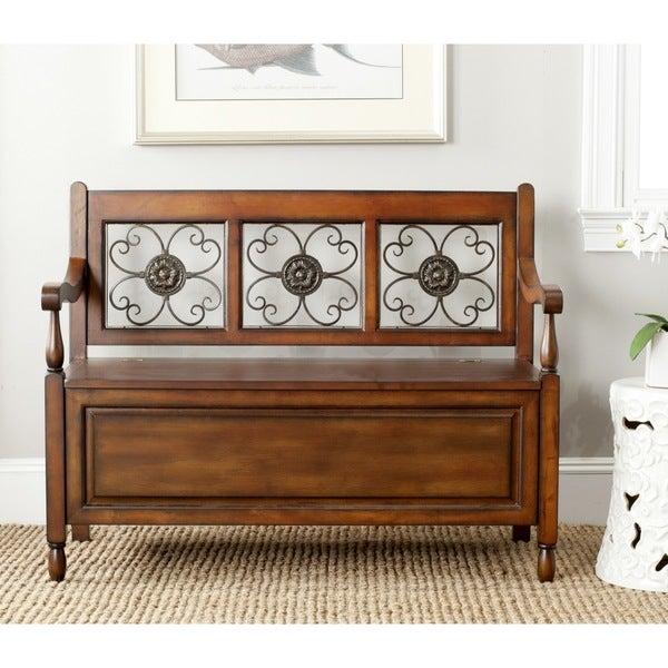Safavieh Erica Dark Brown Storage Bench