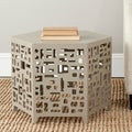Safavieh Kelby Pearl Taupe End Table