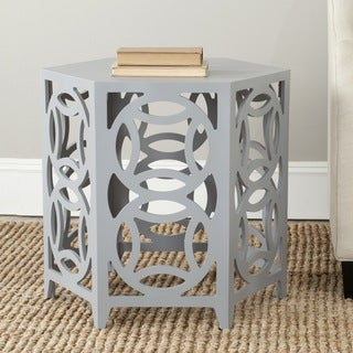 Safavieh Natanya Pearl Blue Grey Side Table