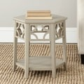 Safavieh Connor Pearl Taupe Hexagon End Table