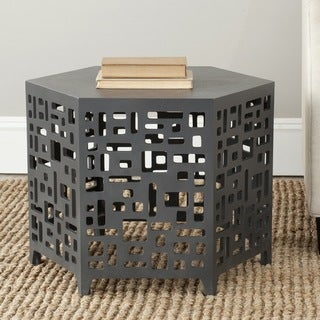 Safavieh Kelby Charcoal Grey End Table