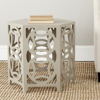 Safavieh Natanya Pearl Taupe Side Table